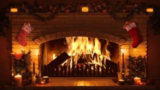 Bright Burning Real Time Christmas Fireplace Recording in Full…