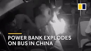 Power bank explodes in owner