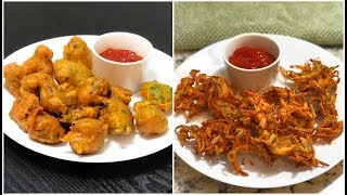 Quick Indian Teatime Snacks | Quick & Easy Indian Evening Snack | Onion Pakora & Mysore Bonda