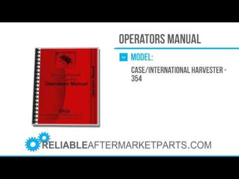 2894 new international harvester 354 tractor operators manual youtube rh youtube com 1972 354 International Tractor Parts International Harvester 354 Tractor