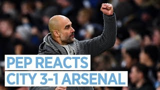 Pep Guardiola reacts to Man City v Arsenal | PRESS CONFERENCE