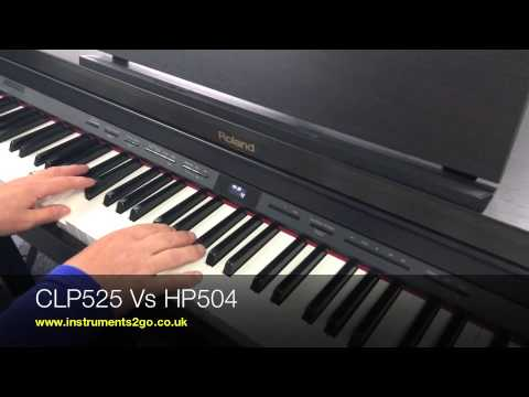 yamaha clp525 vs roland hp504 digital piano demo youtube. Black Bedroom Furniture Sets. Home Design Ideas