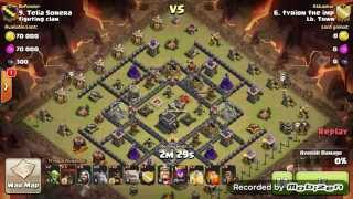 [TH9] Spread out Base 3 Golems Hogs and Balloons for the cleanup GoHoLo ** how to 3 star ***