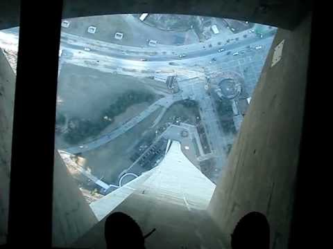 Walking on the CN Tower glass floor