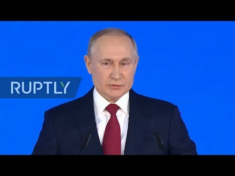 Live Putin Delivers Annual Address To Federal Assembly Youtube