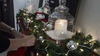 Christmas Project 3 ~ Decorating the Foyer ~ Christmas Decor 2013