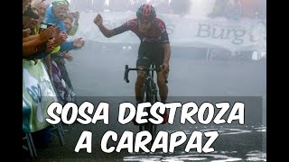 Ivan Ramiro Sosa Destroza a Carapaz - Etapa 3 Vuelta a Burgos kilómetros Finales