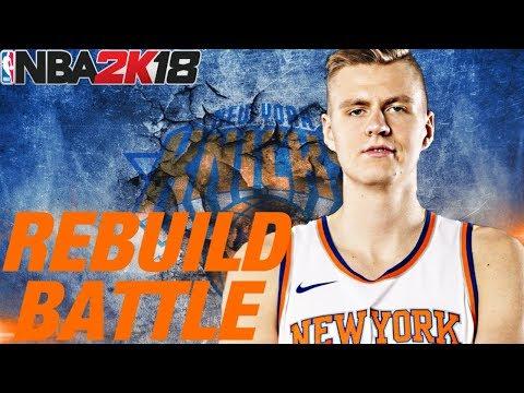 REBUILD BATTLE VS. SIXRINGSOFSTEEL!! KNICKS REBUILD!! NBA 2K18 MY LEAGUE