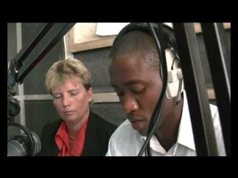 Radio interview at Hone FM in Lusaka with Martine Koopman, IICD