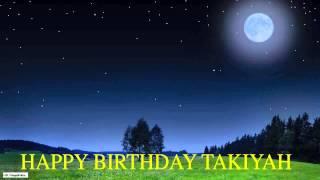 Takiyah  Moon La Luna - Happy Birthday