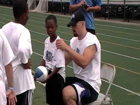 Day 3 Lions Youth Football Camp Autographs