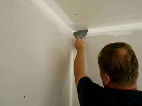 Finishing Inside Corners With A 6 Quot Drywall Knife Youtube
