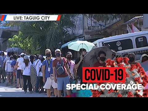 Kilometer-long Lines For Gov't Cash Aid In Taguig City
