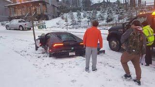 When Idiots Drive Supercars - Winter Edition Fails