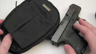 Glock 26 carry systems: Trail Holster / Camera Bag Mod