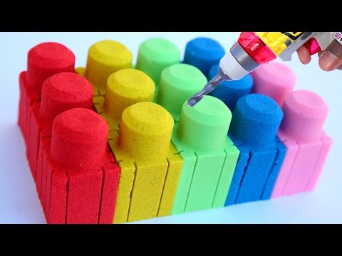 Thumbnail: DIY How To Make Colors Kinetic Sand Mega Bloks Play Doh Glitter Rainbow MLP Learn Colors