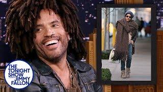 Lenny Kravitz Reacts to His Giant Scarf Meme Video