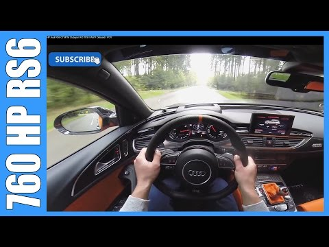 POV 760 HP Audi RS6 C7 MTM Clubsport 4.0 TFSI FAST! Onboard Acceleration