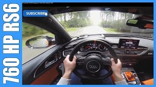 760 HP Audi RS6 C7 MTM Clubsport 4.0 TFSI FAST! Onboard / POV Acceleration
