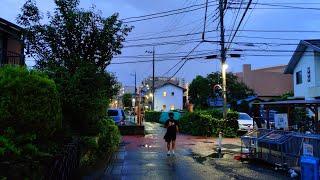 Live Kawasaki Rainy Evening Walk - Mizonokuchi 溝の口散歩