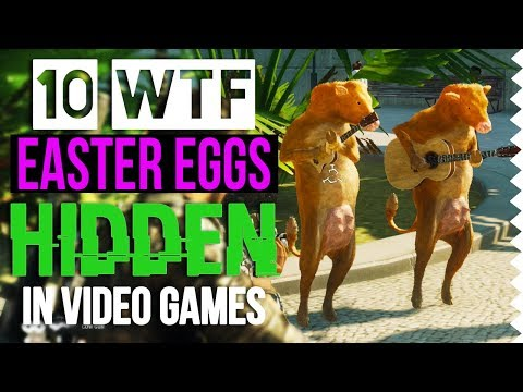10 WTF Easter Eggs Hidden in Video Games! Feat. Oddheader