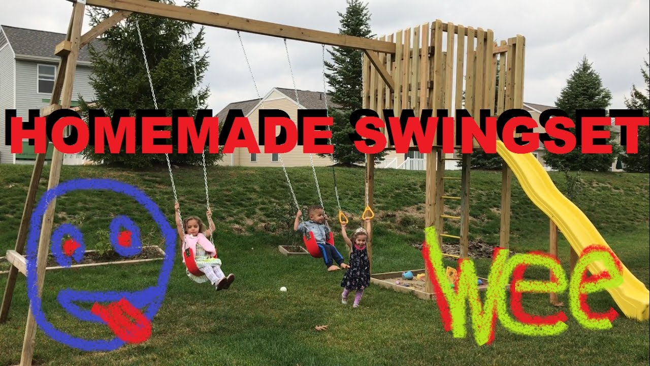 how to make a homemade swingset in the backyard do it yourself