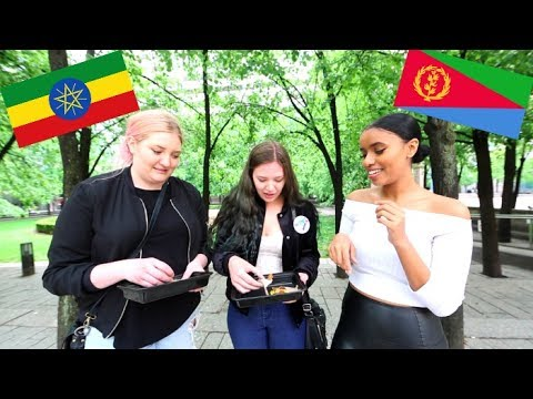 GIVING STRANGERS ETHIOPIAN FOOD!!