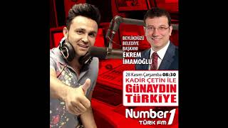 Beylikdüzü Belediye Başkanı Ekrem İmamoğlu Numberone Türk Fm