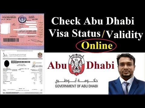 how to Check Abu Dhabi Employment Visa Validity Online Check Abu Dhabi Visit Visa or Resident  Visa