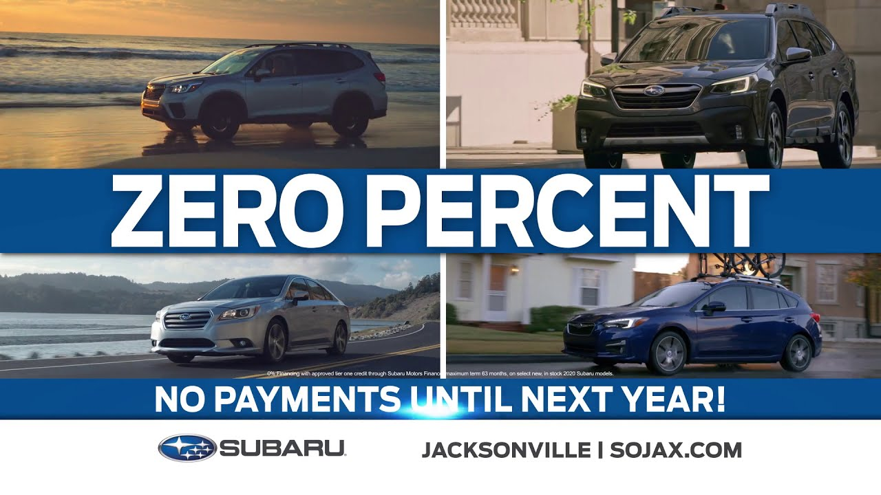 Don T Miss Out On 0 Financing On New 2020 Subaru Models Youtube