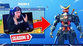 SAISON 9 BATTLE PASS TIER 100 SHOWCASE! Fortnite Battle Pass Max Tiers Débloqué