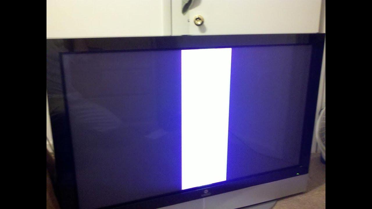 reparer une tv plasma 50 pouce lg 50pc1d 50pc3d qui a une barre blanche repair white liner