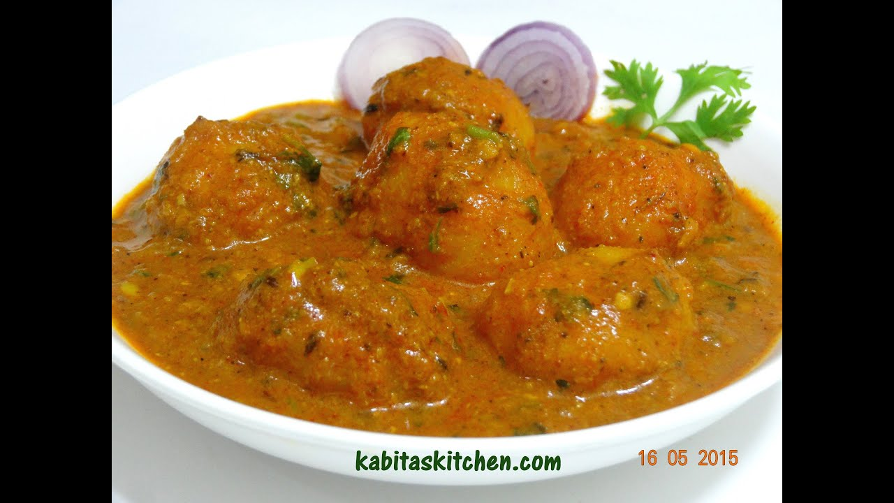 Dum Aloo Recipe-Kashmiri Shahi Aloo Dum-Indian Potato Curry Recipe ...