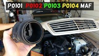 Mercedes W208 W202 Maf Sensor Replaceent P0101 P0102 P0103 P0104