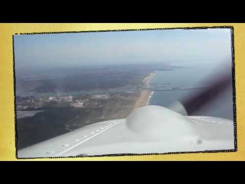 Flying Basque Coastline and landing in Biarritz