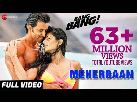 Mix - Meherbaan Full Video | BANG BANG! | feat Hrithik Roshan & Katrina Kaif | Vishal Shekhar