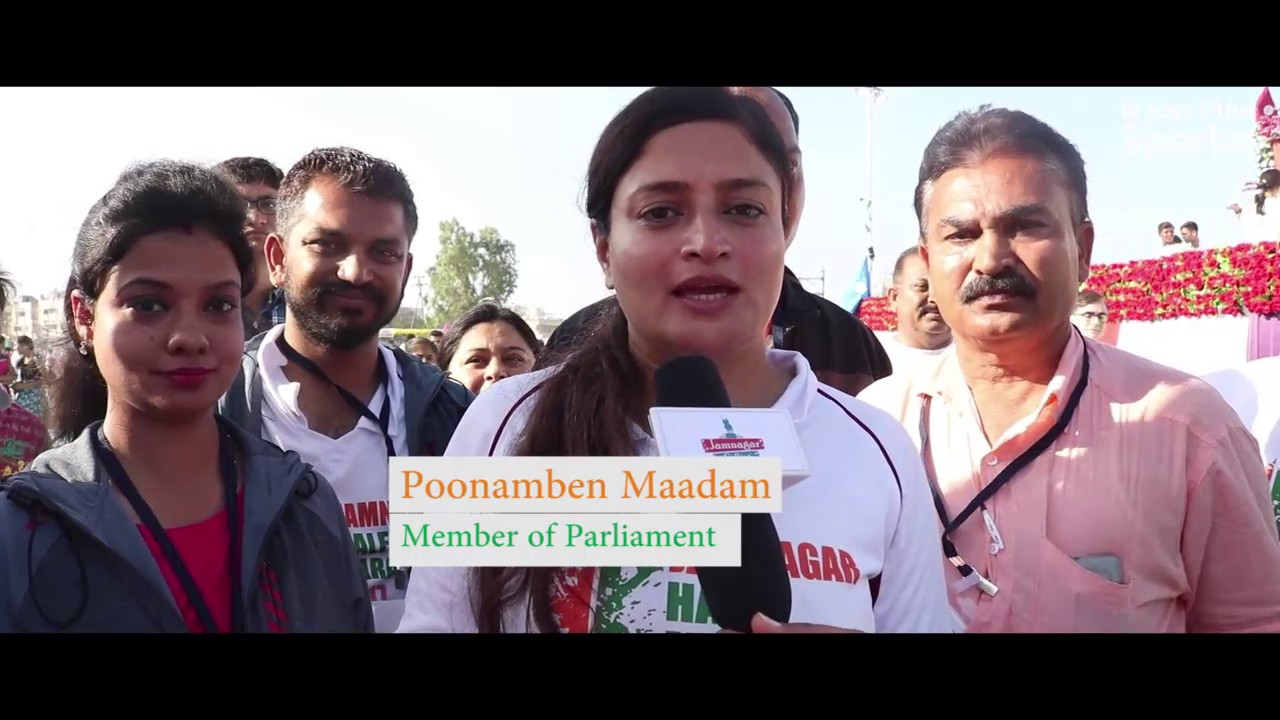 Poonamben Maadam Congratulates People of Jamnagar for Making Jamnagar Half Marathon a Big Success
