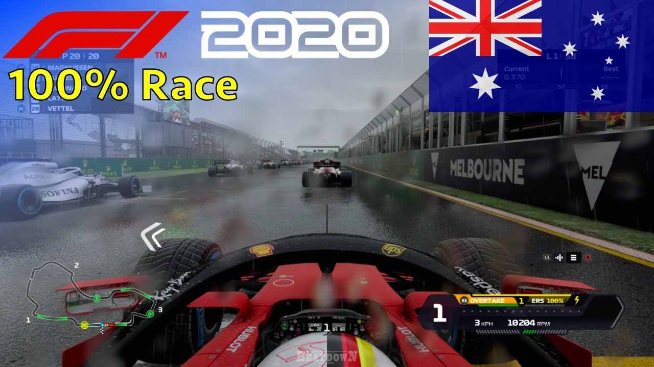 F1 2020 - Seb's Final Ferrari Season #1: 100% Race Australia | 60FPS