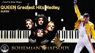 Queen Greatest Hits Medley - Queen, Bohemian Rhapsody OST | piano cover by Sunny Fingers
