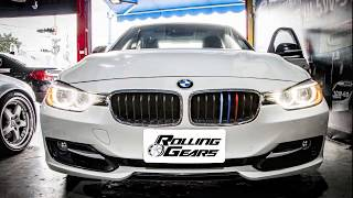 "Rolling-Gears/RG: BMW F30/F31/F34 3 Series ""5-layer Painted"" M-Color Grill Cover (8 Bars)"