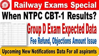 RRB NTPC Results & group D Exam Date Expected Details  for All Aspirants by SRINIVASMech