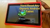 Eurostar ePad Genie ET7183G Y13 Tablet hard reset - YouTube