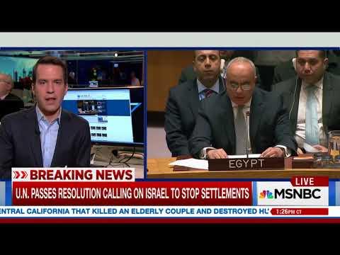 UN Demands End to Israel Settlement Building; US Abstains