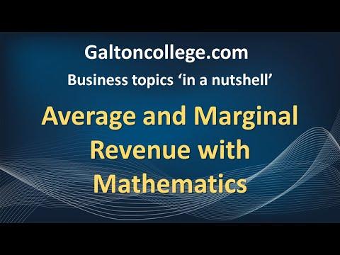 Dip104JE  Average and Marginal Revenue with Mathematics