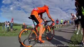 """Tour de Pologne 2016, etap IV Rzeszów, premia górska Lubenia - """"Tropienie węża"""""""