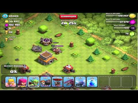 Clash of Clans - Barbarian King versus PEKKA 1-on-1