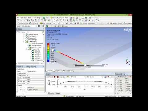 Fracture Analysis using Pre-Meshed Crack with Ansys