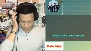 Menghapus Jejakmu - Noah (video karaoke duet bareng artis tanpa vokal) smule cover