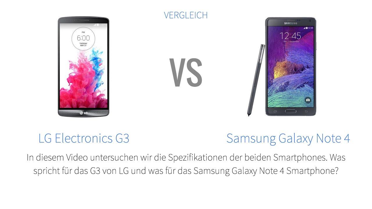 lg electronics g3 vs samsung galaxy note 4 smartphone vergleich deutsch youtube. Black Bedroom Furniture Sets. Home Design Ideas