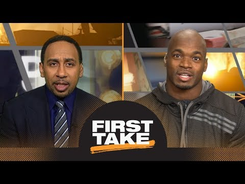 Stephen A. Smith asks Adrian Peterson if he